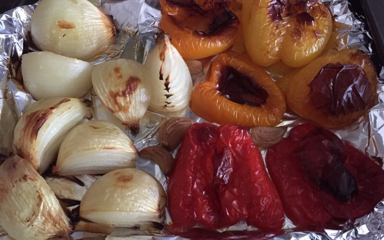How to roast onions, garlic and peppers